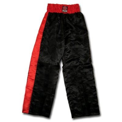 Kick-box trousers, Saman, black/red