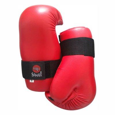 Semi-contact kesztyű, Saman, műbőr, piros