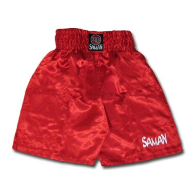 Boxing trunks, Saman, poly, red