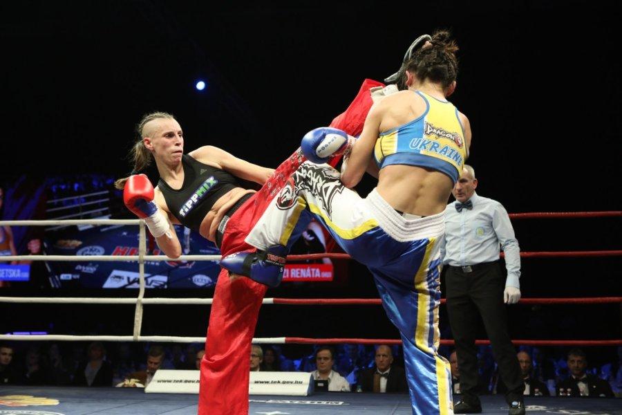 Megvédte világbajnoki címét a kick-boxos Rákóczi Renáta