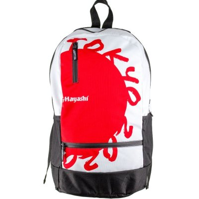 Backpack, Hacashi, Karate 2020, white-red