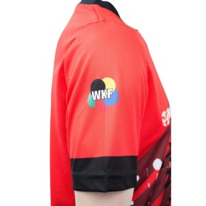 T-shirt, Hayashi, WKF, red