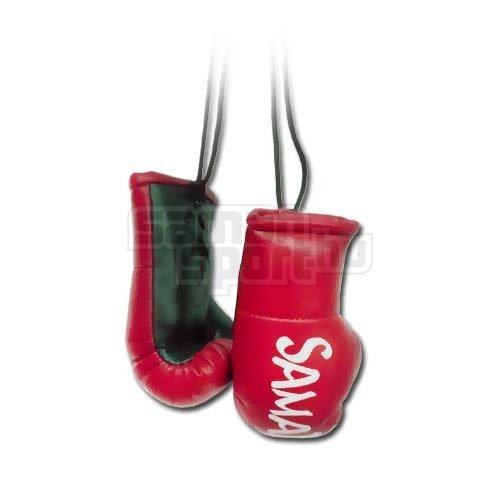 Mini Boxing Gloves, Saman, Hang-up, pair, red