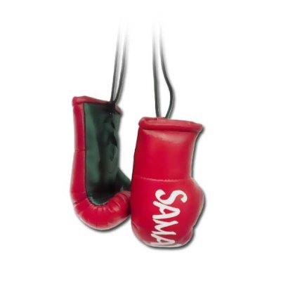 Mini Boxing Gloves, Saman, Hang-up, pair, red